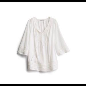 Daniel Rainn Knit  top boho cream ivory NWT